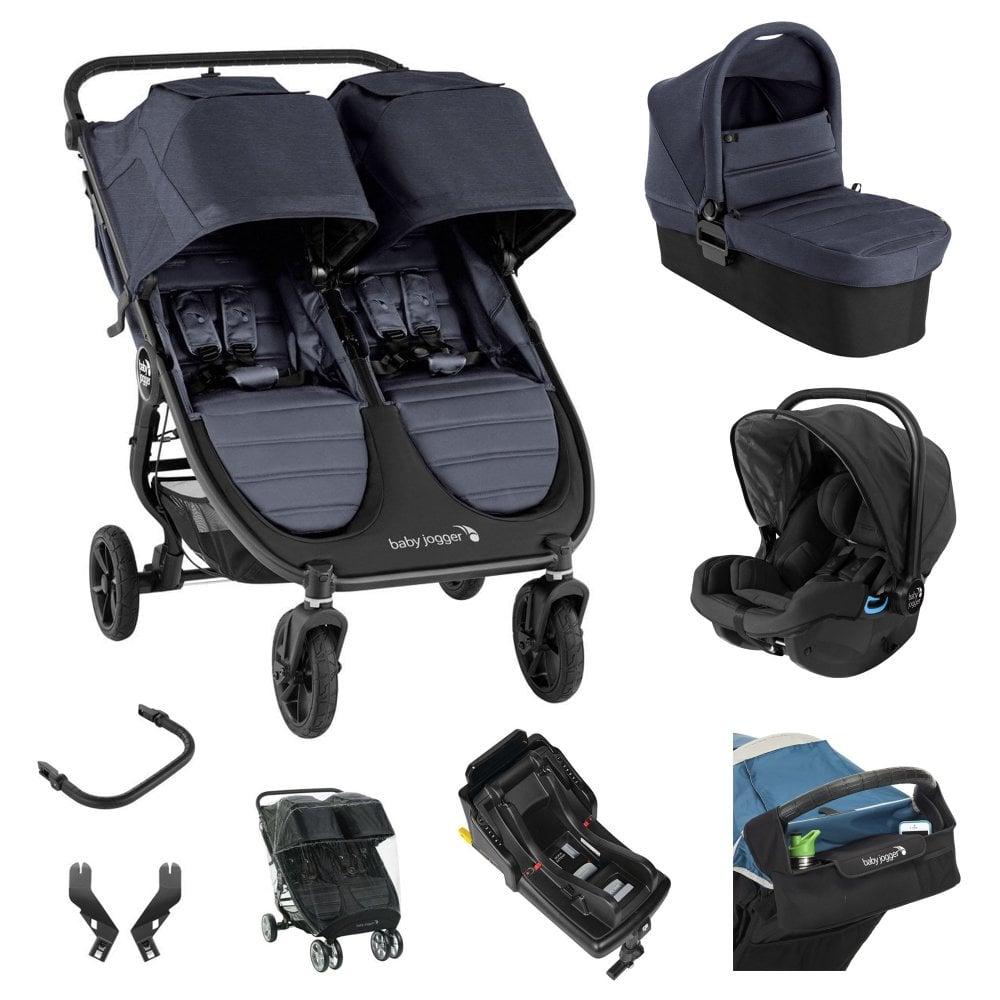 Carbon Baby Jogger City Mini 2//City Mini GT2 Double Carrycot