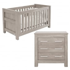 Bordeaux Cot Bed & Dresser - Ash