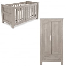 Bordeaux - Cot Bed & Wardrobe - Ash