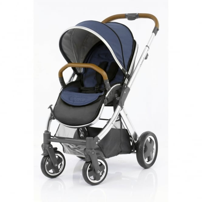 BabyStyle Oyster 2 - 3in1 - Mirror Chassis (Tan) - Oxford Blue