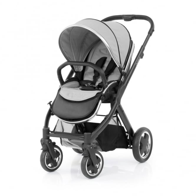 BabyStyle Oyster 2 Pushchair - Black Chassis - Pure Silver