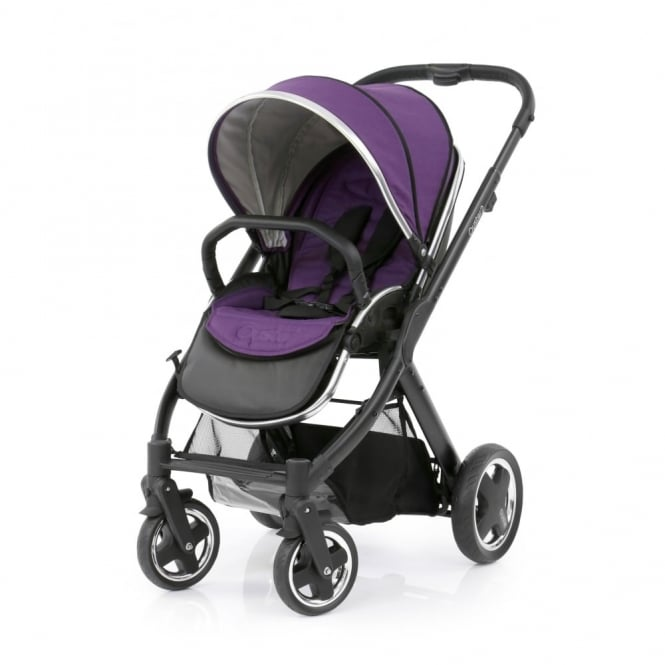 BabyStyle Oyster 2 Pushchair - Black Chassis - Wild Purple