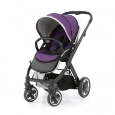 Oyster 2 Pushchair - Black Chassis - Wild Purple