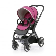 Oyster 2 Pushchair - Black Chassis - Wow Pink