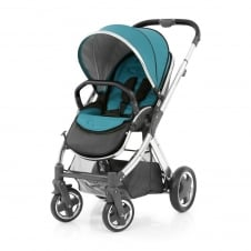 Oyster 2 Pushchair - Mirror Chassis (Black) - Deep Topaz