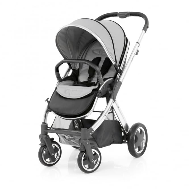 BabyStyle Oyster 2 Pushchair - Mirror Chassis (Black) - Pure Silver
