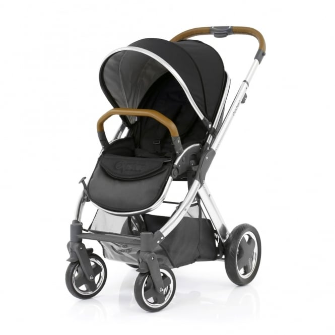 BabyStyle Oyster 2 Pushchair - Mirror Chassis (Tan) - Ink Black