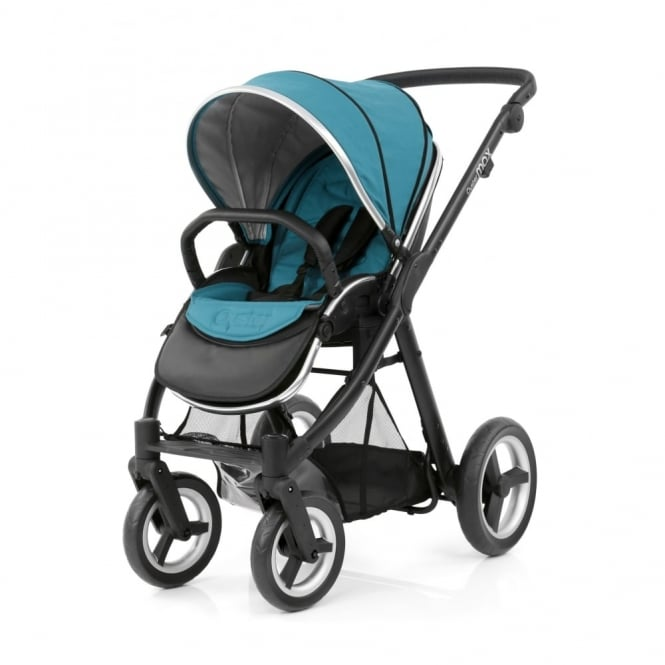 BabyStyle Oyster Max Pushchair + Free Fur Liner - Black Chassis - Deep Topaz