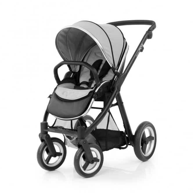 BabyStyle Oyster Max Pushchair - Black Chassis - Pure Silver