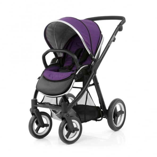 BabyStyle Oyster Max Pushchair - Black Chassis - Wild Purple