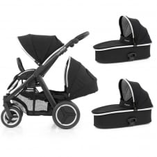 Oyster Max Tandem + 2 Carrycots - Black Chassis - Ink Black