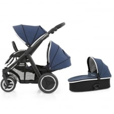 Oyster Max Tandem + Carrycot - Black Chassis - Oxford Blue