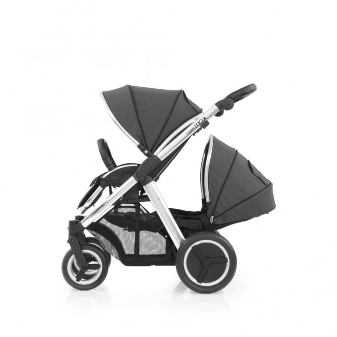 BabyStyle Oyster Max Tandem - Mirror Chassis - Tungsten Grey