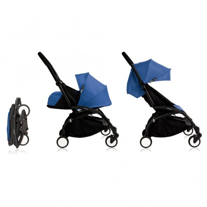 BabyZen YOYO+ 0+ Newborn Package - Black Chassis - Blue