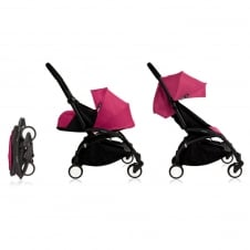 YOYO+ 0+ Newborn Package - Black Chassis - Pink