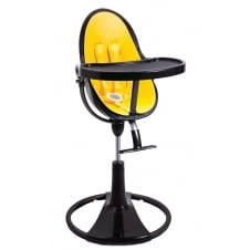 Fresco Chrome Contemporary Baby Chair - Black Frame - Canary Yellow