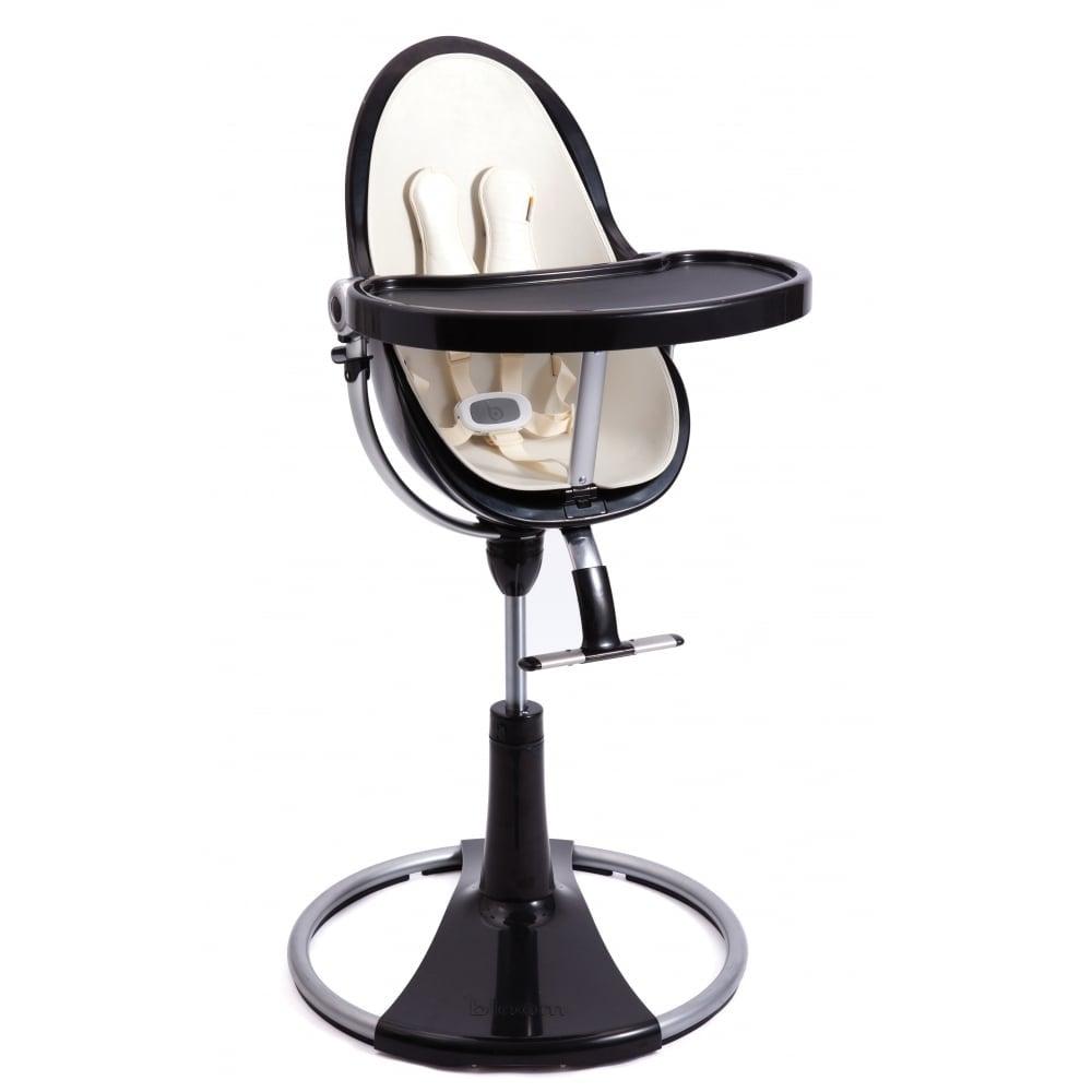 Bloom Fresco Chrome Contemporary Baby Chair Black Frame Coconut