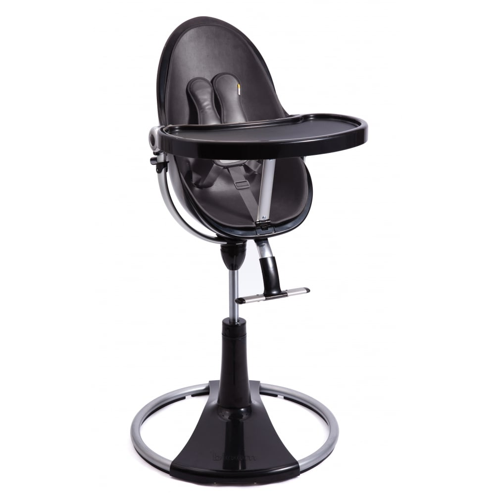 Bloom Fresco Chrome Contemporary Baby Chair Black High