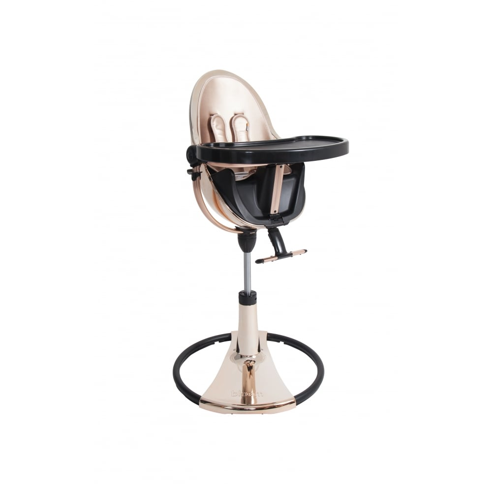 Fresco Chrome Contemporary Baby Chair   Rose Gold Frame   Rose Gold