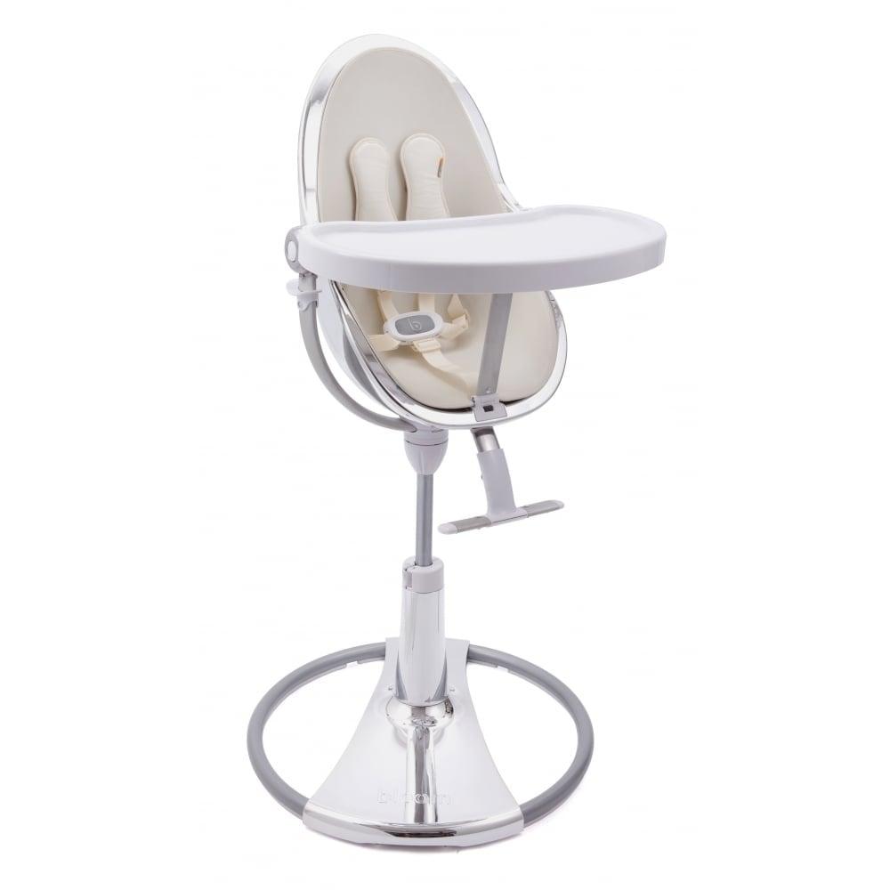 Bloom Fresco Chrome Contemporary Baby Chair Silver Frame Coconut