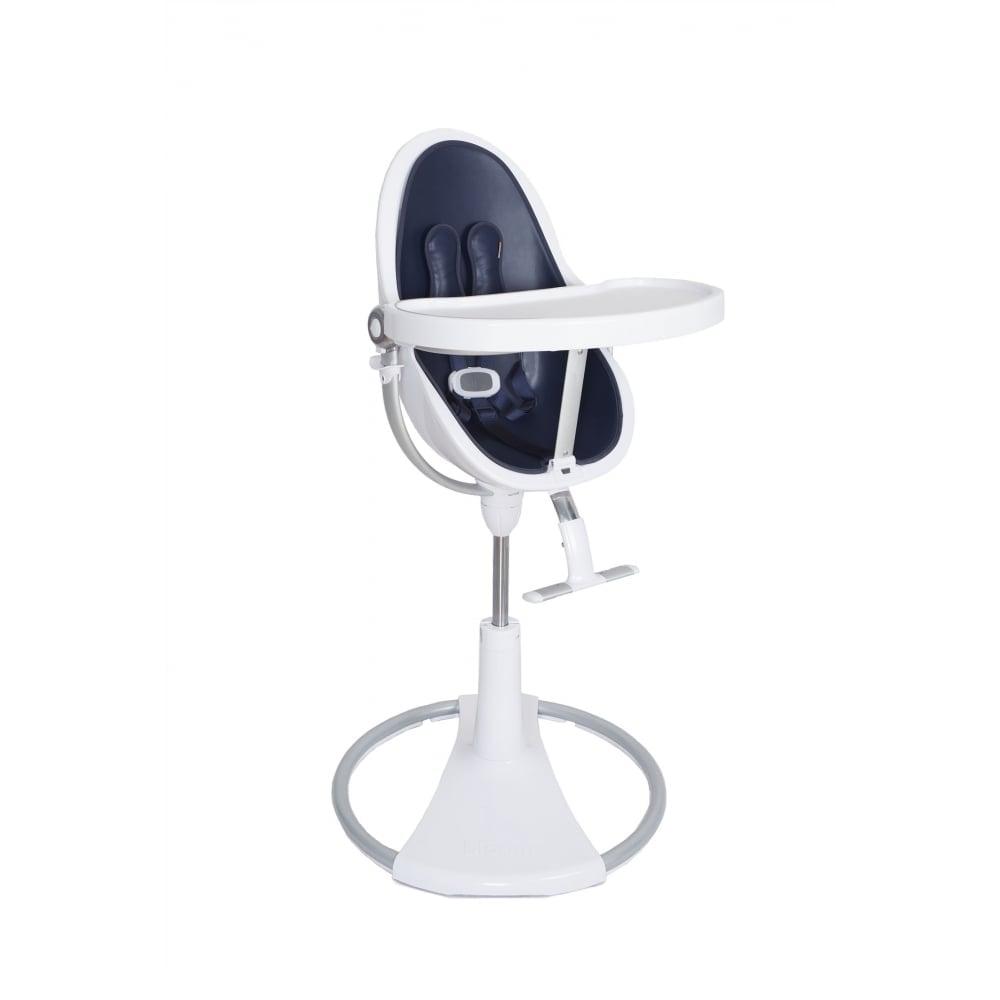 Strange Bloom Fresco Chrome Contemporary Baby Chair White Frame Navy Blue Machost Co Dining Chair Design Ideas Machostcouk