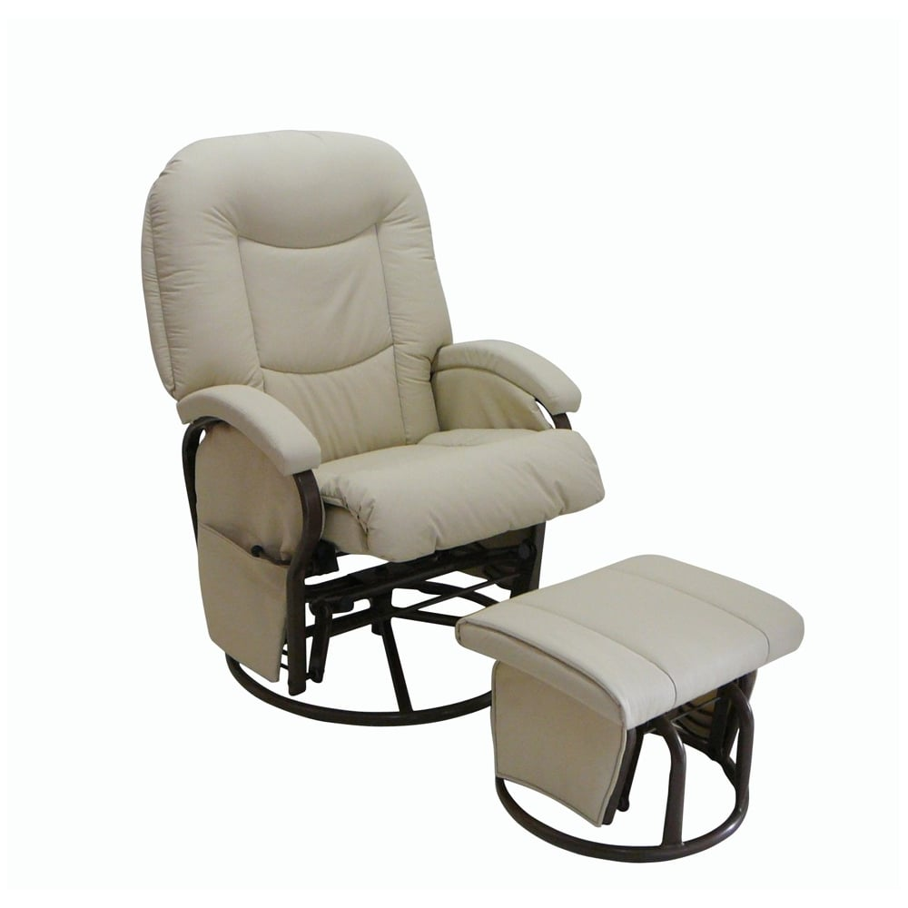 Prime Bonito Bebe Leatherette Recline Glider Stool Pabps2019 Chair Design Images Pabps2019Com