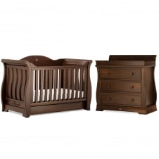 Sleigh Royale - Cot Bed & Dresser