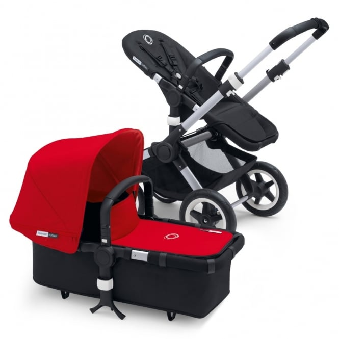 Bugaboo Buffalo 3in1 Aluminium/Black - Red