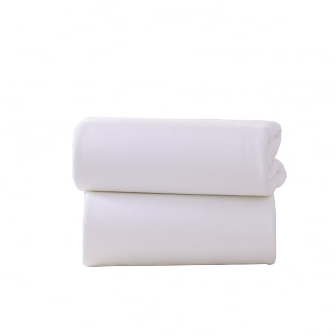 Clair-De-Lune 2 Fitted Cotton Interlock Moses Basket Sheets