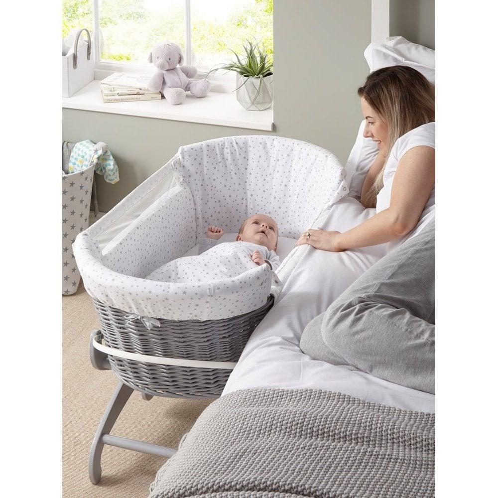 clair de lune bedside crib cot beds furniture from pramcentre uk. Black Bedroom Furniture Sets. Home Design Ideas