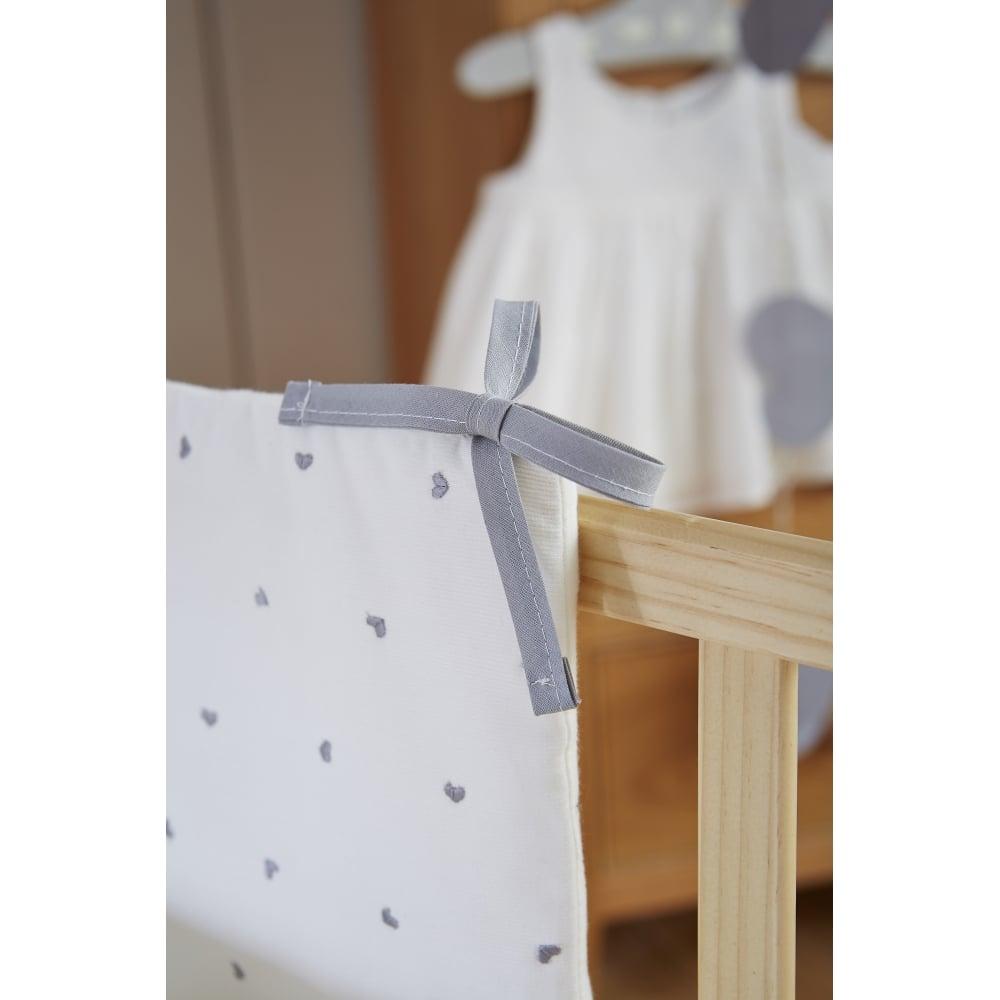 Clair de Lune Lullaby Hearts 2 Piece Crib Quilt /& Bumper Bedding Set Ivory