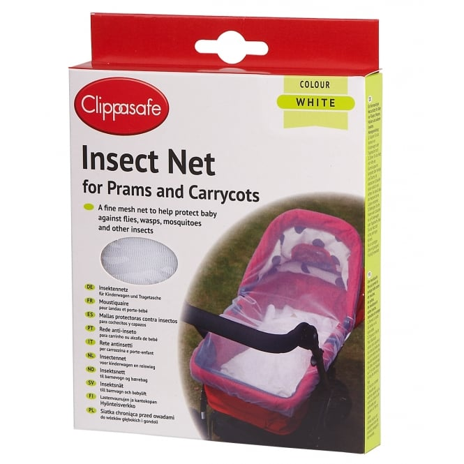 Clippasafe Pram & Carrycot Insect Net White