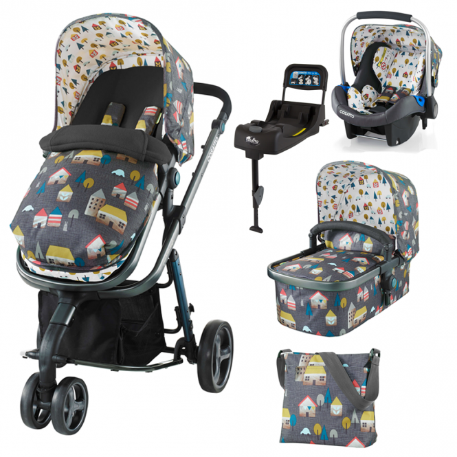 Cosatto Giggle 2 Travel System + Port 0+ Car Seat + Isofix Base - Hygge Houses