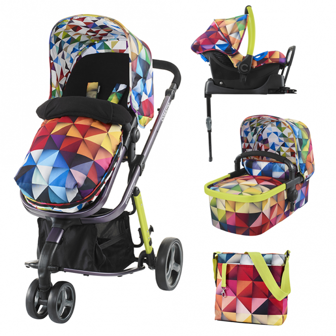 Cosatto Giggle 2 Travel System + Port 0+ Car Seat + Isofix Base - Spectroluxe