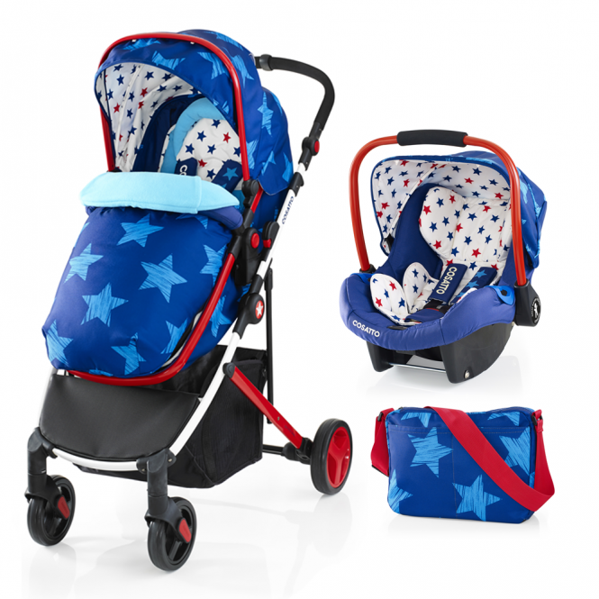 Cosatto Wish Travel System + Port 0+ Car Seat - Starbright