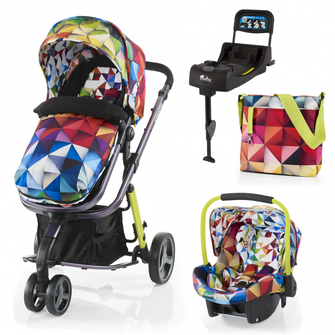 Cosatto Woop Travel System + Port 0+ Car Seat + Isofix Base - Spectroluxe