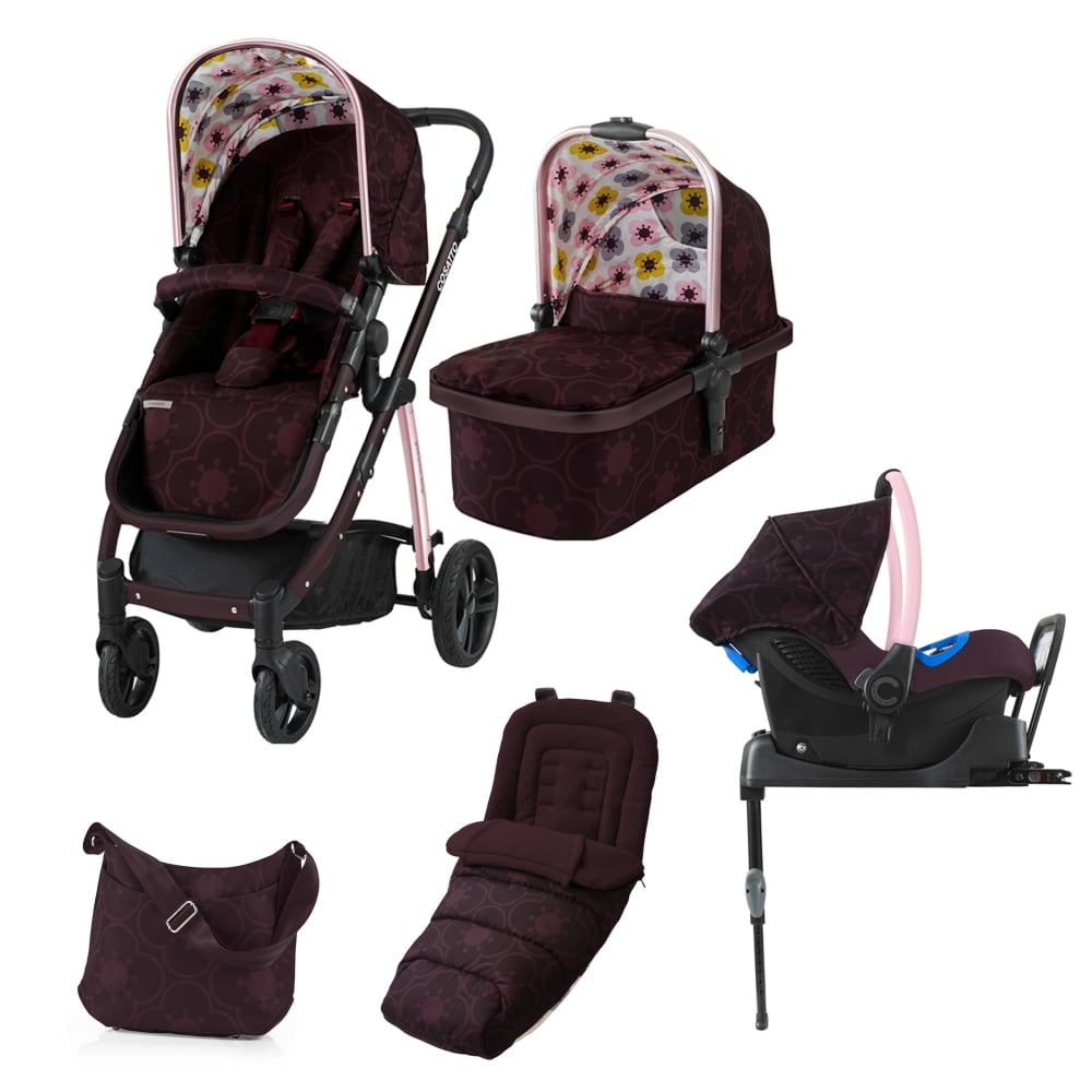 Cosatto Wow 3in1 + Port 0+ Car Seat + Isofix Base + Footmuff + ...