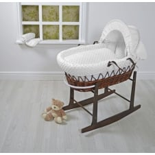 Dark Wicker Moses Basket
