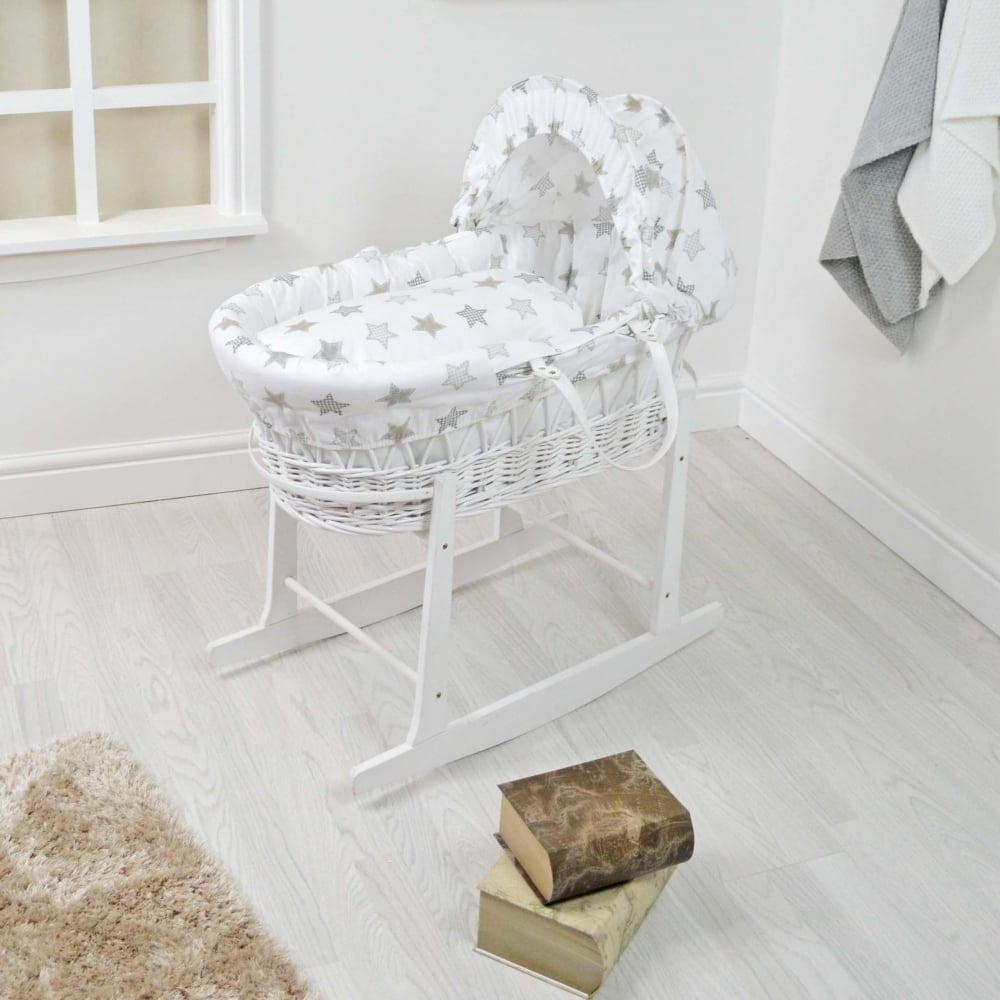 to fit baby swinging crib//wicker basket//craddle PINK HEARTS CANOPY drape with Free Standing HOLDER