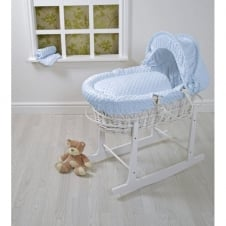 White Wicker Moses Basket