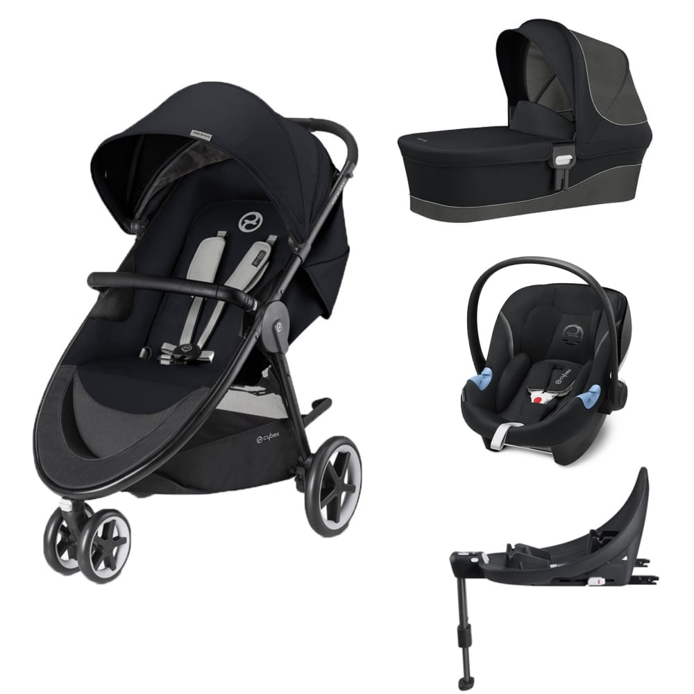 cybex agis m air 3 3in1 aton m i size base m lavastone black prams pushchairs from. Black Bedroom Furniture Sets. Home Design Ideas