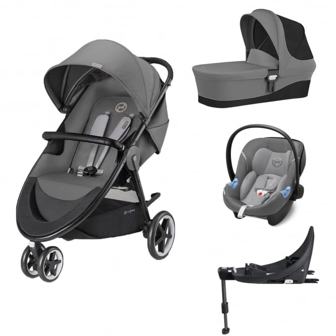 cybex agis m air 3 3in1 aton m i size base m manhattan grey prams pushchairs from. Black Bedroom Furniture Sets. Home Design Ideas