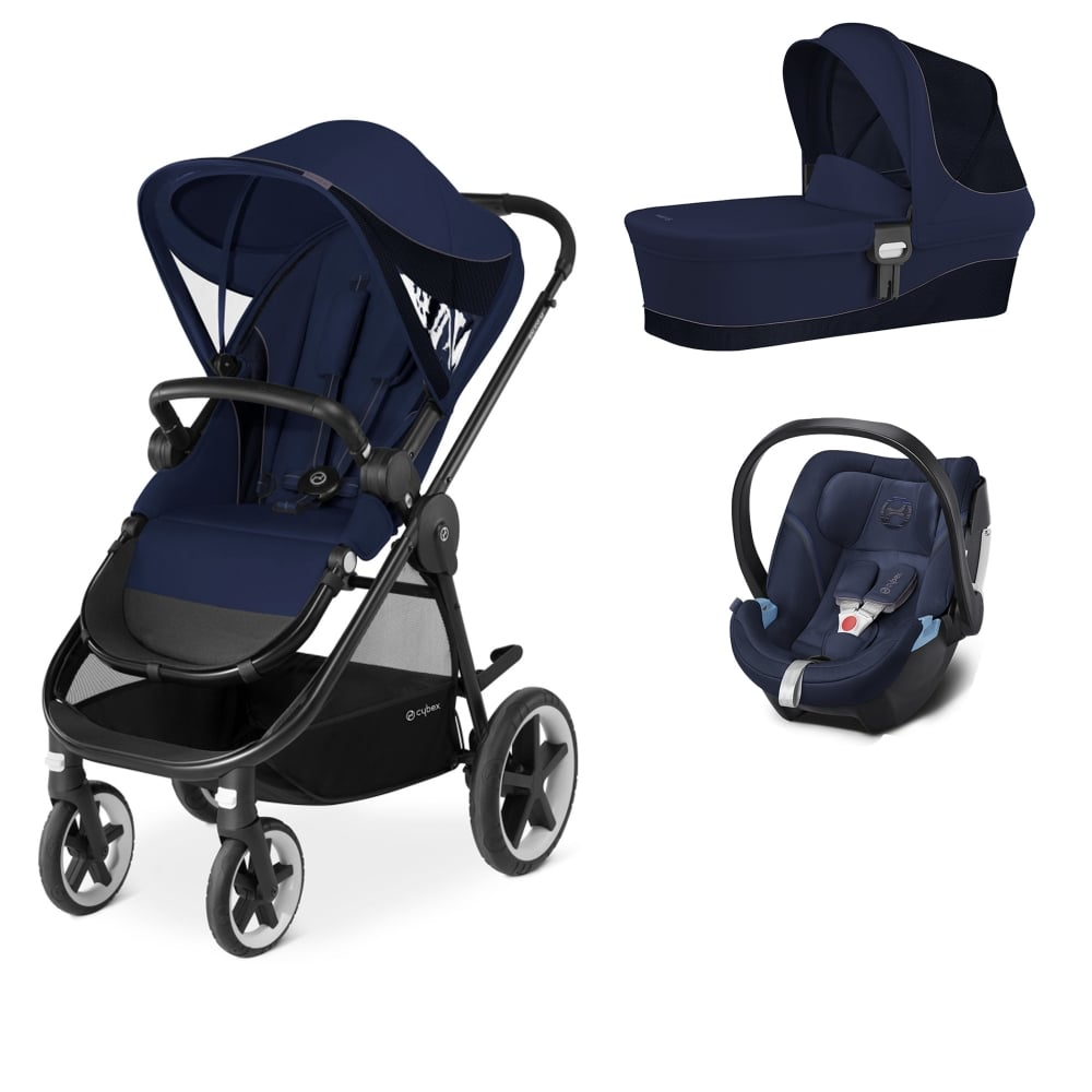 cybex balios m 3in1 aton 5 denim blue prams pushchairs from pramcentre uk. Black Bedroom Furniture Sets. Home Design Ideas
