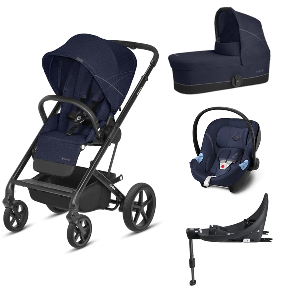 cybex balios s 3in1 aton m base m denim blue prams pushchairs from pramcentre uk. Black Bedroom Furniture Sets. Home Design Ideas