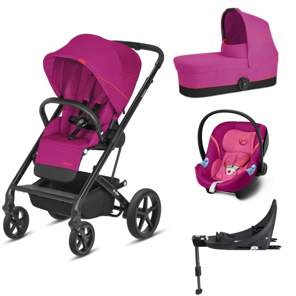 cybex balios s 3in1 aton m base m passion pink prams pushchairs from pramcentre uk. Black Bedroom Furniture Sets. Home Design Ideas