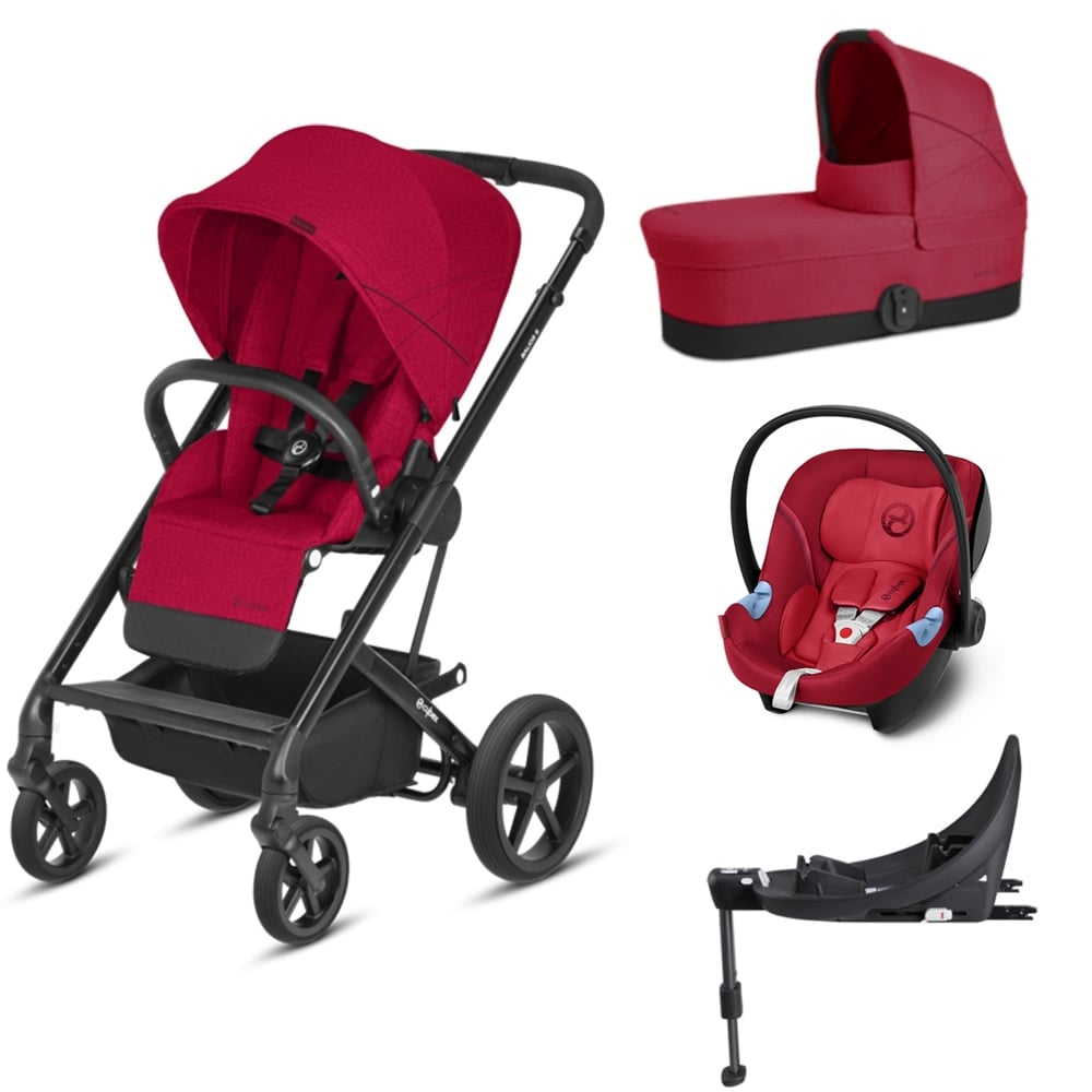 cybex balios s 3in1 aton m base m rebel red prams. Black Bedroom Furniture Sets. Home Design Ideas
