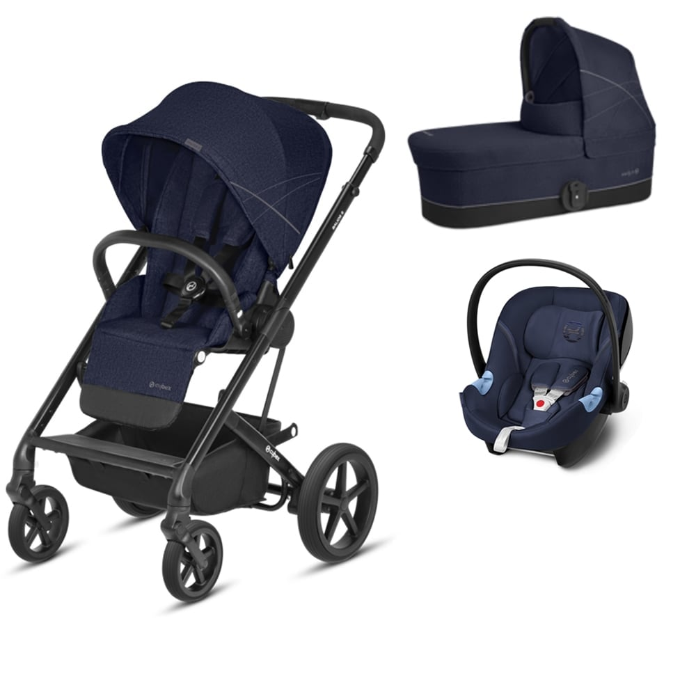cybex balios s 3in1 aton m denim blue prams. Black Bedroom Furniture Sets. Home Design Ideas