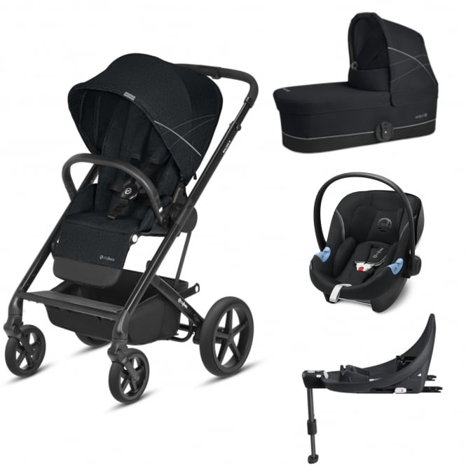 cybex balios s 3in1 aton m i size base m lavastone black prams pushchairs from. Black Bedroom Furniture Sets. Home Design Ideas