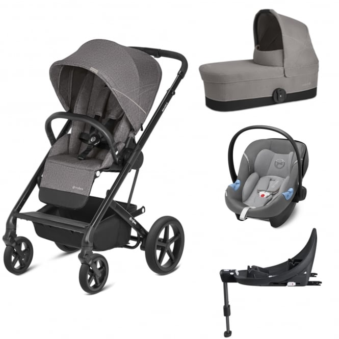 cybex balios s 3in1 aton m i size base m manhattan grey prams pushchairs from. Black Bedroom Furniture Sets. Home Design Ideas