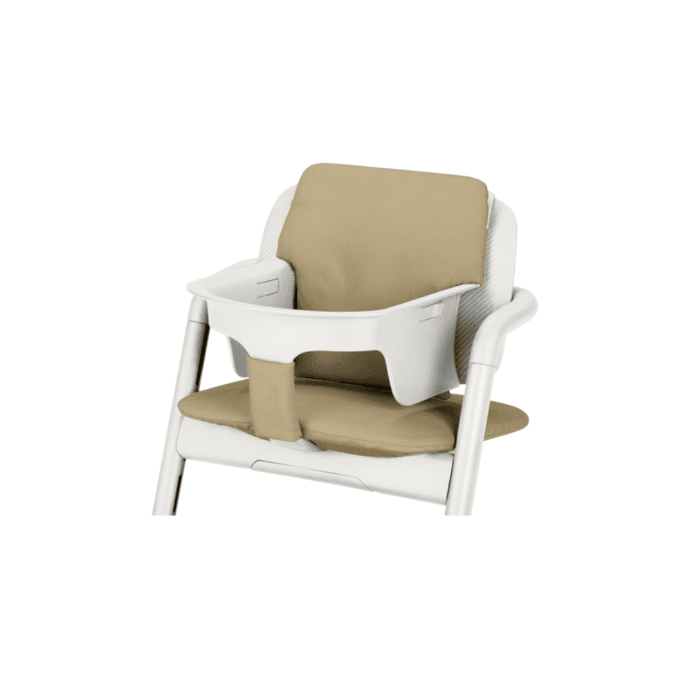 a30c8e225f37 Lemo Wood Highchair + Baby Seat + Tray + Pale Beige Comfort Inlay - Porcelain  White